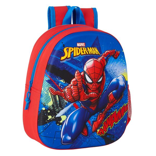 3D Child bag Spiderman Blue Red