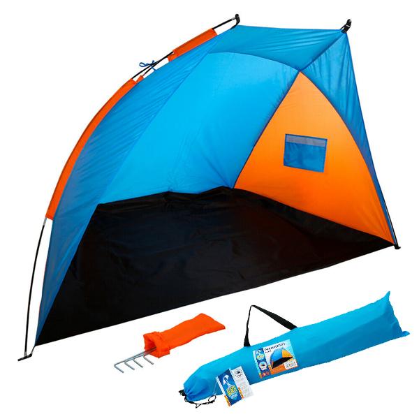 Windbreaker Beach Blue Orange (200 X 125 x 120 cm)