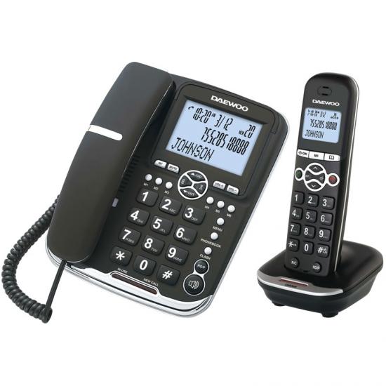 Teléfono Inalámbrico Daewoo DTD5500 DECT LCD LED COMBO