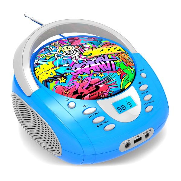 Bluetooth Daewoo DBU-10 Graffiti FM Blue