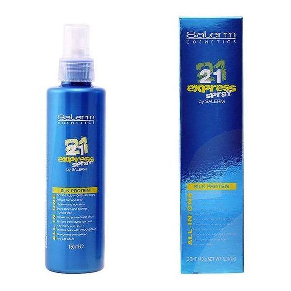 Mascarilla Capilar sin aclarado 21 Express Silk Protein Spray Salerm (150 ml)
