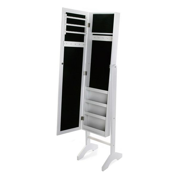 Free standing mirror Mdf White (31,5 x 9,5 x 120 cm)