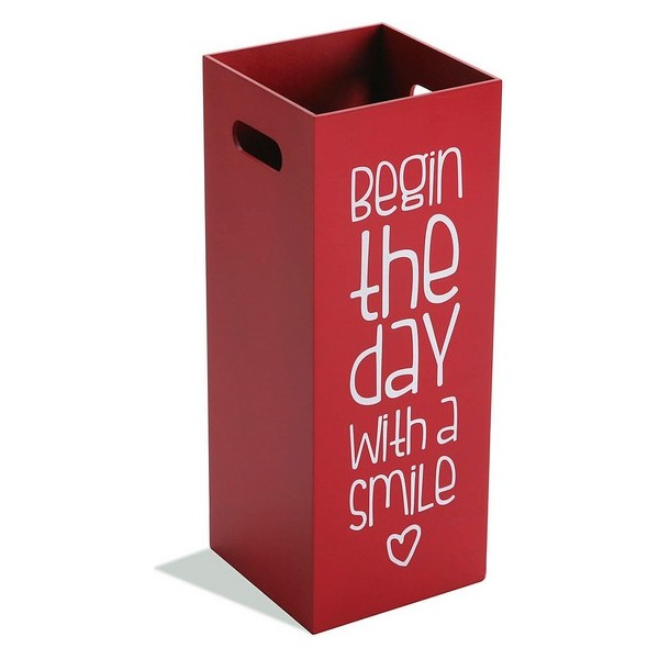 Umbrella stand Begin The Day With a Smile MDF Wood (21 x 53 x 21 cm)