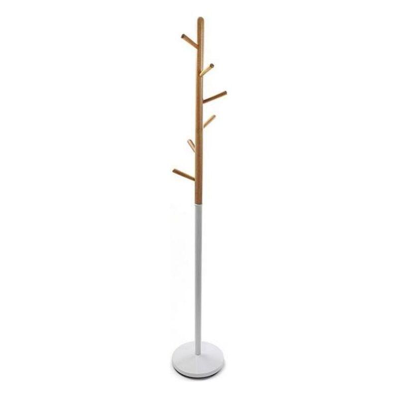 Coat rack (28 x 180 x 28 cm) White Metal