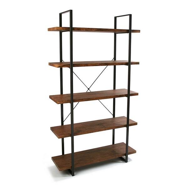 Shelves Wood 5 Shelves (33 x 179 x 100 cm)