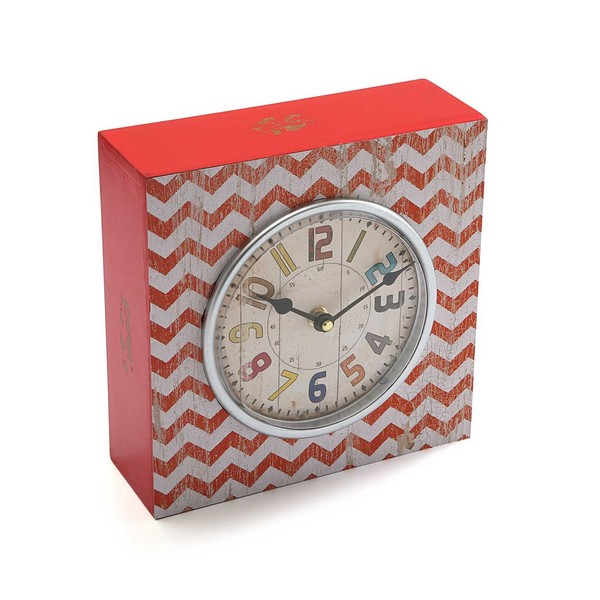 Table clock Wood (10 x 23 x 23 cm)