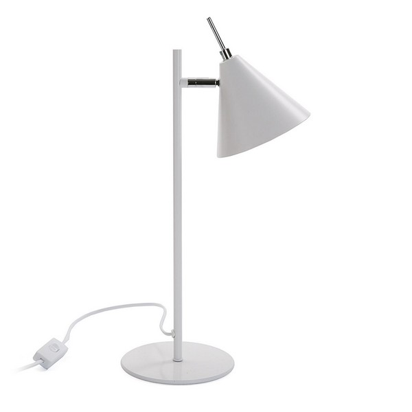 Desk Lamp Swing White Metal (15 x 41 x 23 cm)