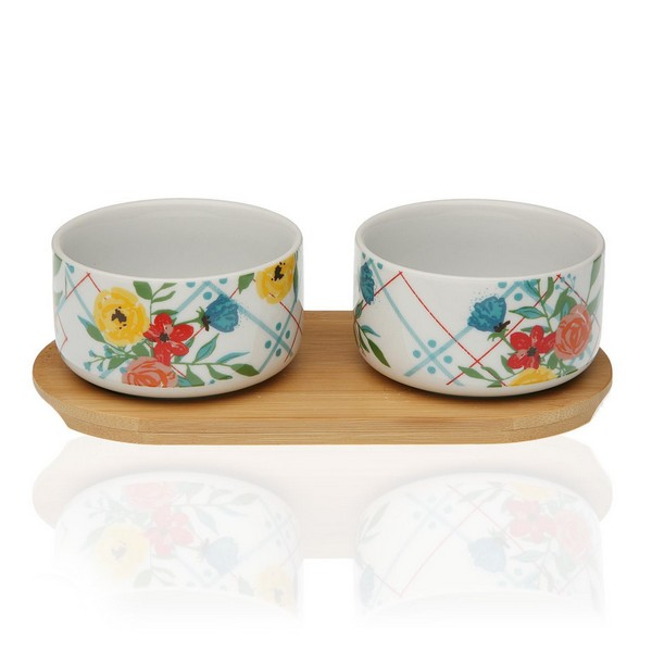 Appetizer Set Bamboo Porcelain (2 Pieces)