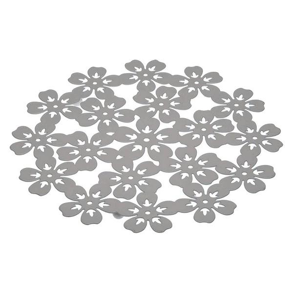 Table Mat Metal (22 x 1 x 22 cm) Flower