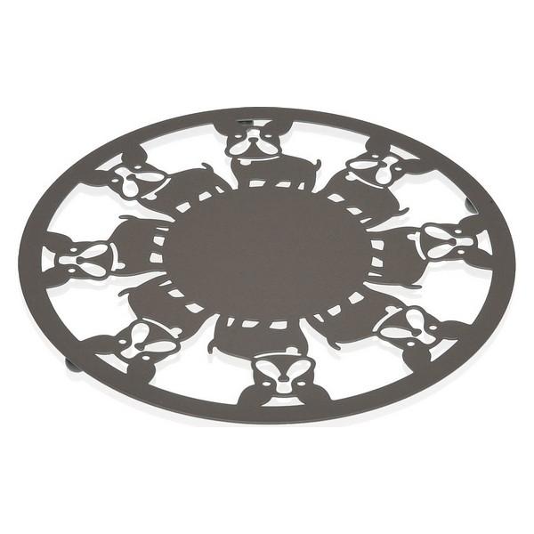 Table Mat Metal (22 x 1 x 22 cm) Dog