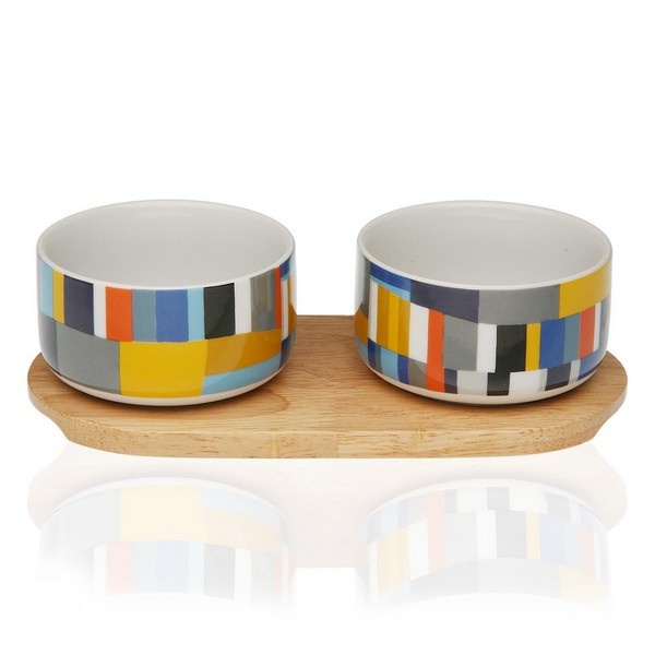 Appetizer Set Etna Bamboo Porcelain (2 Pieces)