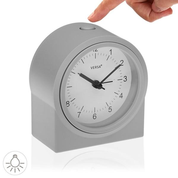 Alarm Clock Grey Plastic (6,1 x 11,2 x 10,2 cm)