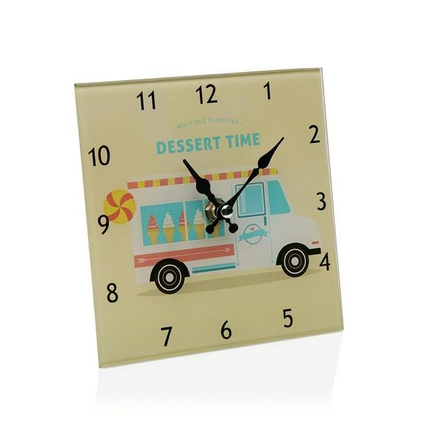 Table clock Crystal (4 x 15 x 15 cm)
