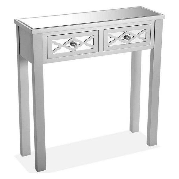 Hall Table with 2 Drawers Silke MDF Wood/Fir wood (25 x 78 x 78 cm)