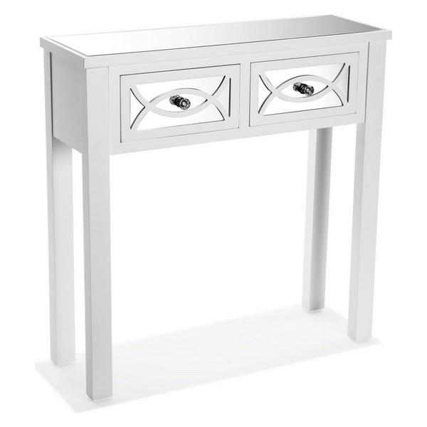 Hall Table with 2 Drawers Miska MDF Wood/Fir wood (25 x 78 x 78 cm)