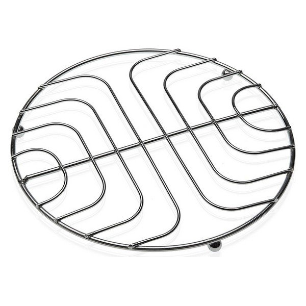 Table Mat Chromed (20 x 1,5 x 20 cm) Circular