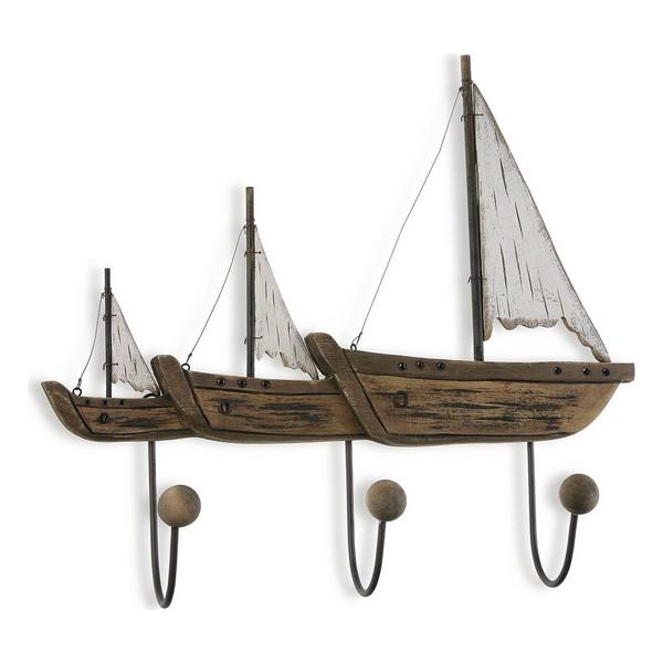 Coat rack Boat Metal (10 x 42 x 46 cm)