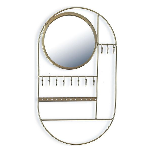 Door Hanger Circle Jewelry Metal Mirror (2,5 x 37 x 21,5 cm)