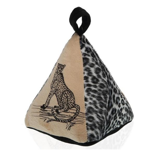 Door stop Leopard Textile (14 x 19 x 16 cm)