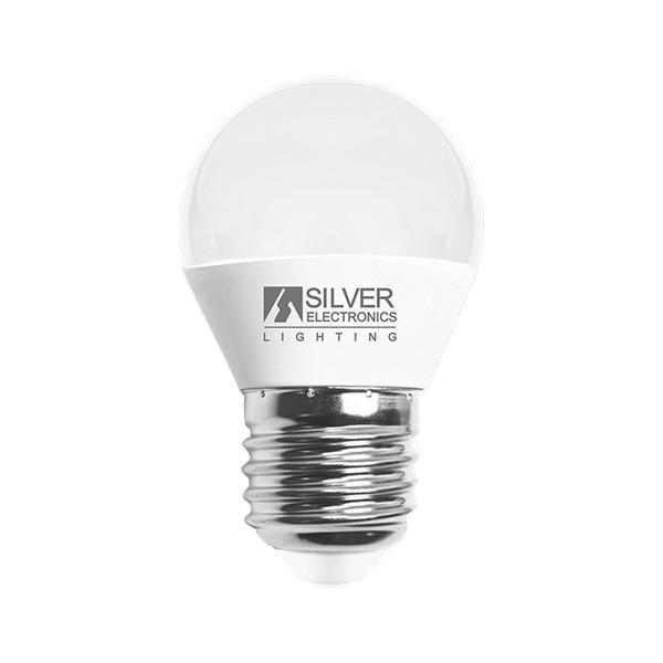 Spherical LED Light Bulb Silver Electronics 960727 E27 7W Warm light