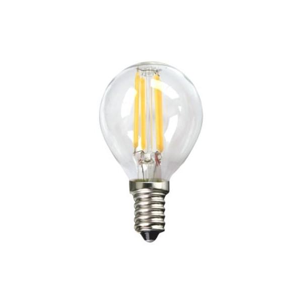 Bombilla LED Esférica Silver Electronics 1960314 E14 4W 3000K A++ (Luz cálida)