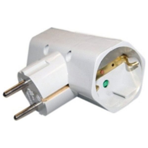 Plug Adapter Silver Electronics 3500W White