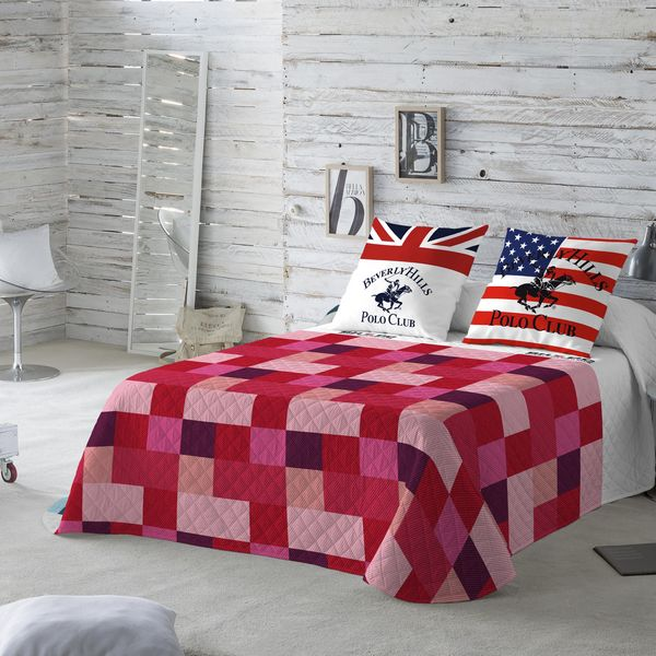 Bedspread (quilt) Atlanta Rojo Beverly Hills Polo Club (Bed 180)