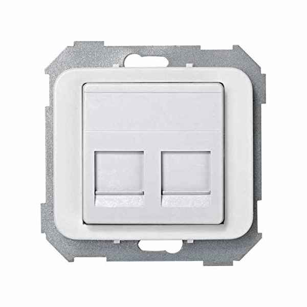 Adaptor Simon 75589-60 RJ-45 x 2 White (Refurbished A+)