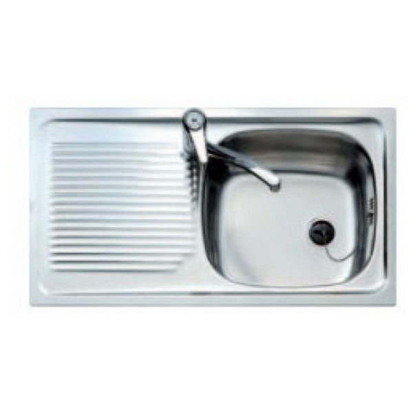 Sink with One Basin and Drainer Teka E/50 1C1E.REVE 3010 Stainless steel