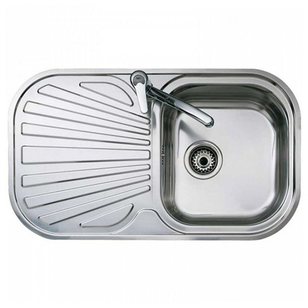 Sink with One Basin and Drainer Teka Stainless steel