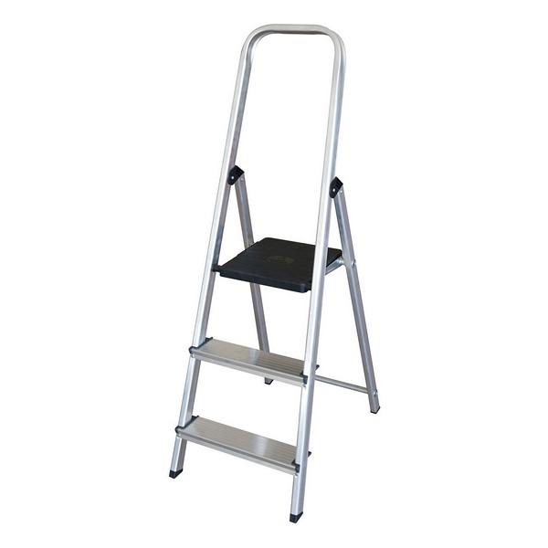 3-step folding ladder Aluminium