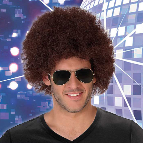 Curly Hair Wig Afro Brown 113770