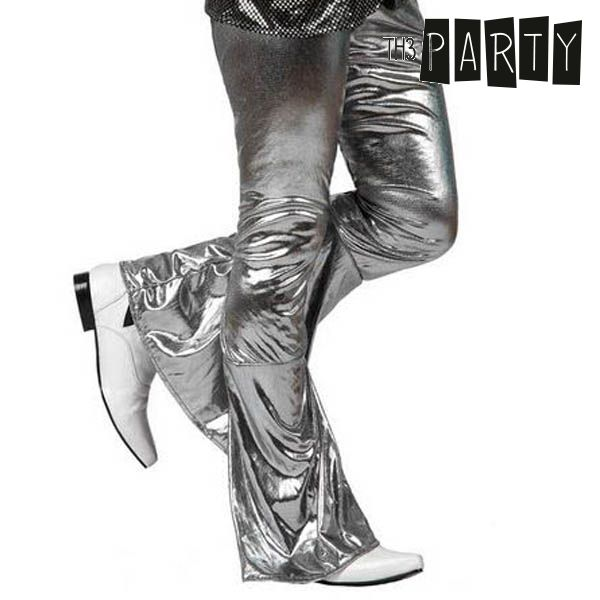 Adult Trousers Disco Shine Silver