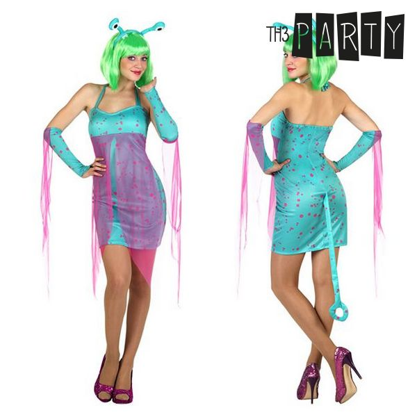 Costume for Adults Sexy alien Blue (4 Pcs)