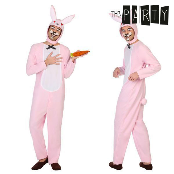 Costume for Adults Rabbit Pink (2 Pcs)