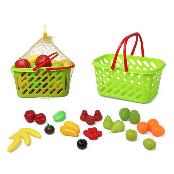 Basket with Fruit Green (27 Pcs)