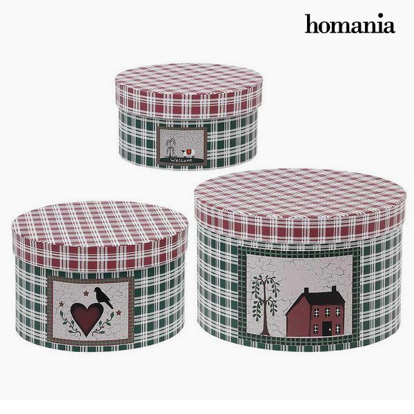Decorative box Homania (3 uds) Cardboard