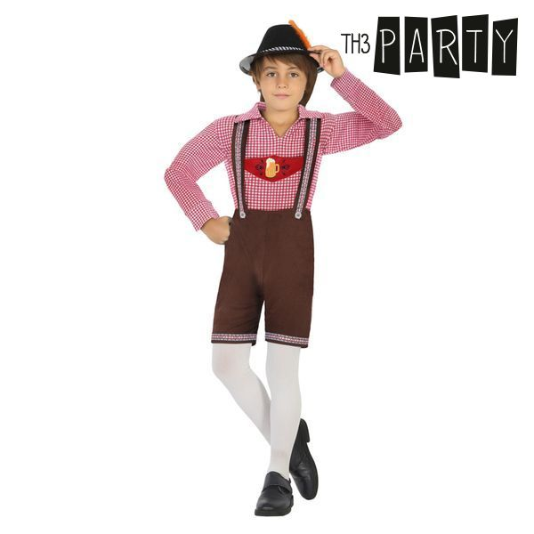 Costume per Bambini Tedesco Marrone (3 Pcs)
