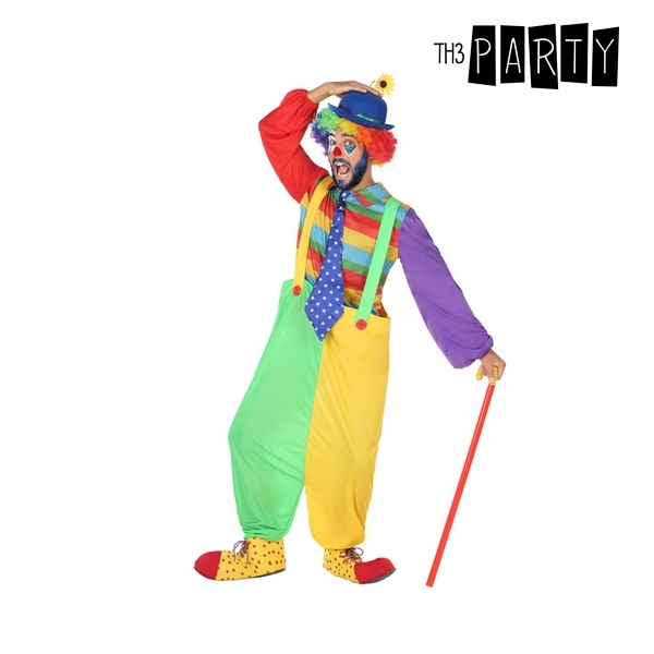 Costume for Adults Male clown Multicolour (3 Pcs)