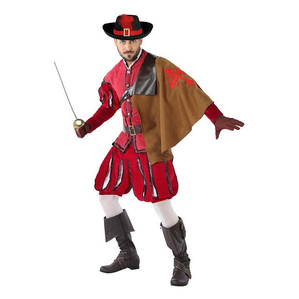 Costume for Adults 113817 Male musketeer Red (3 Pcs)