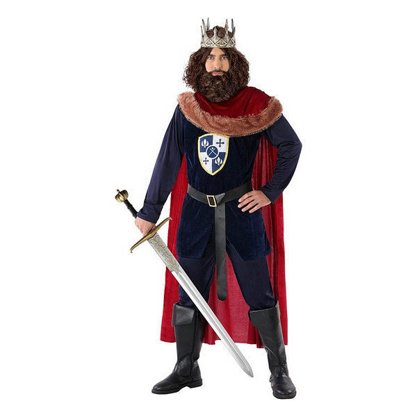 Costume for Adults 113893 Medieval king Navy blue Red