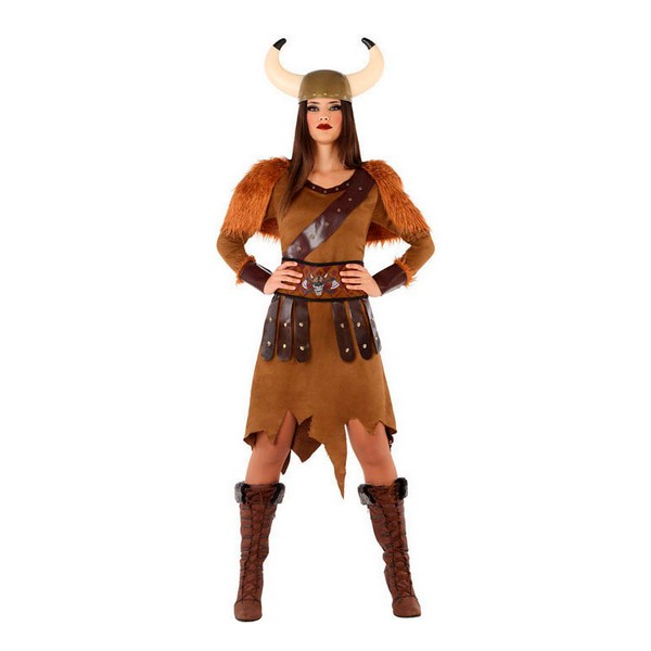 Costume for Adults 114012 Female viking Brown (3 Pcs)