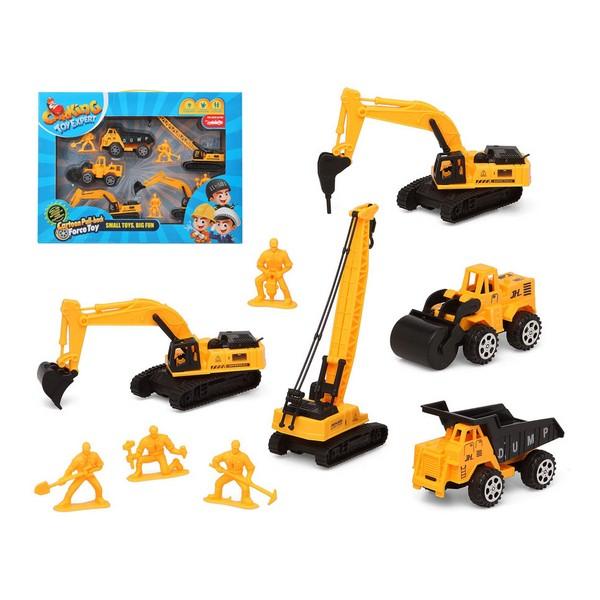 Vehículos de Construcción Amarillo 119398 (9 Pcs)