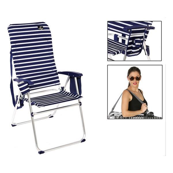 Folding Chair Blue White