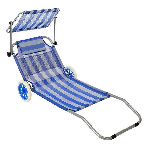 Beach sunbed (150 x 52 x 62 cm)
