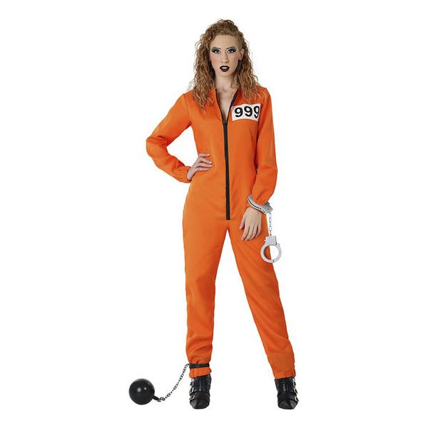 Costume for Adults Female prisoner Orange