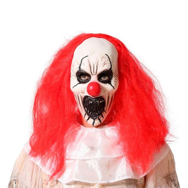 Mask Halloween Evil male clown Latex