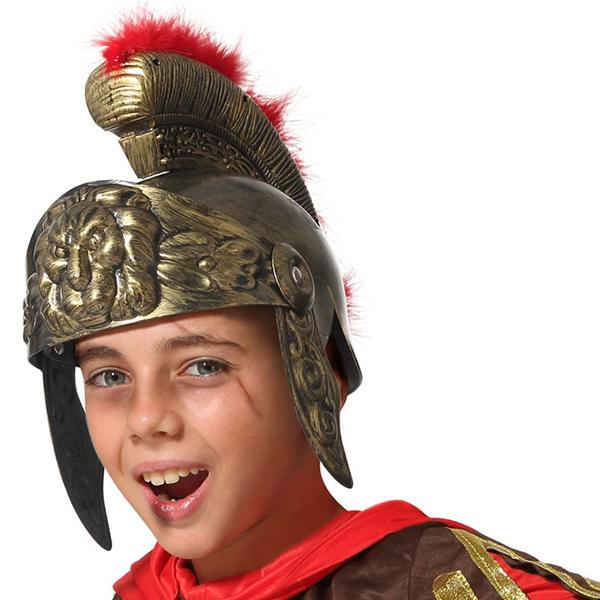Casco Romano Infantil Dorado