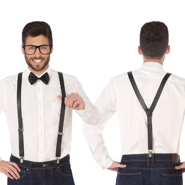 Accesorio para Disfraz Tirantes Pajarita Negro