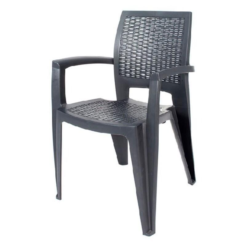 Beach Chair Caribe Grey (57 x 85 x 54 cm)